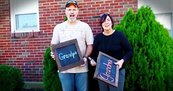 Surprise Pregnancy Announcement For New Grandparents