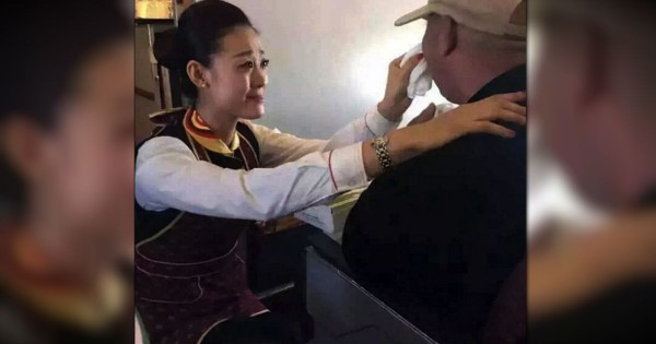 Flight Attendant's Kindness Towards A Disabled Man Is Inspiring