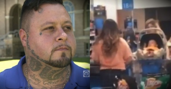 'Tough Guy' With Tattoos Steps Up To Help A Struggling Mom At Walmart