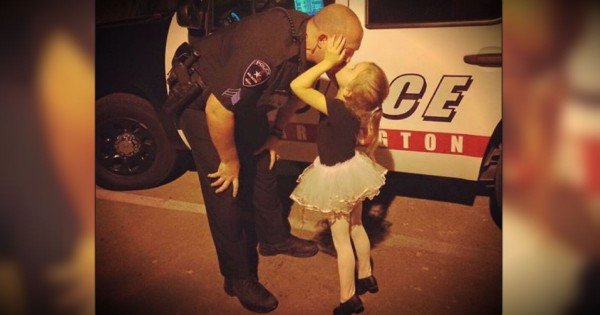 Tiny Dancer Plants A Big One On Her Favorite Police Officer