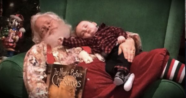 Waiting For Santa Wore This Baby Out, And The Pics Are Adorable
