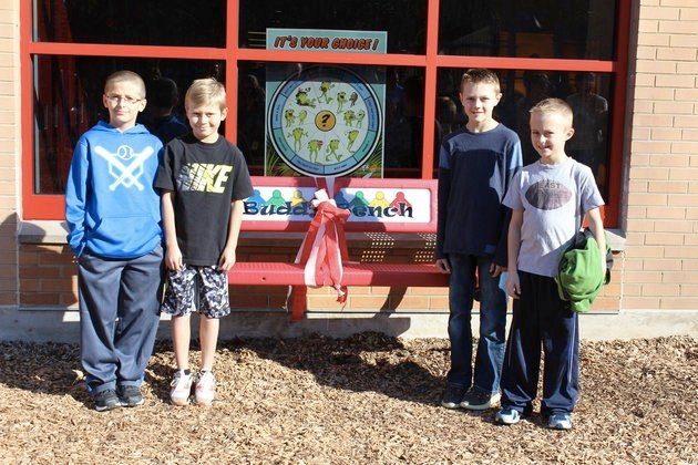 Elementary Students Fight Bullying With A 'Buddy Bench'
