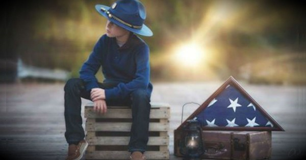 A Boy's Touching Salute To His Fallen Father Is Absolutely Beautiful