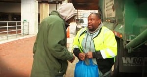 garbage man helps the homeless-Godvine