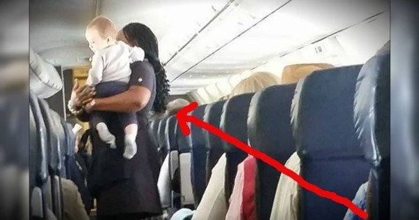Flight Attendant's Kindness Towards A Tiny Passenger Goes Viral