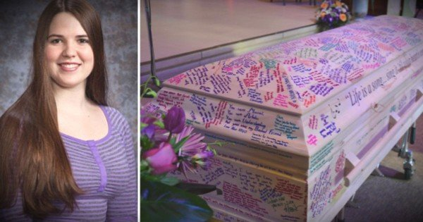Loved Ones Honor This Late Teen By Writing On Her Casket
