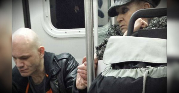 An Elderly Woman Uses Compassion To Calm An Erratic Man On A Train
