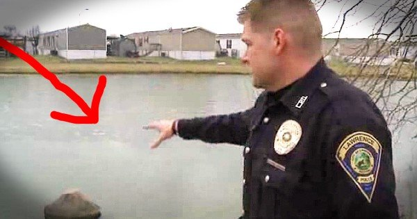 Police Officer Risked His Life To Save A Little Boy Who Fell Through The Ice