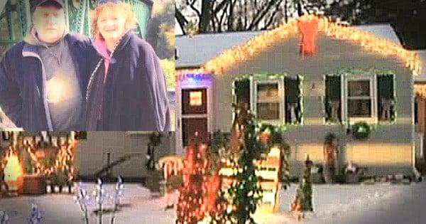 Loving Husband Kept Christmas Lights Up Until Wife Returned From The Hospital