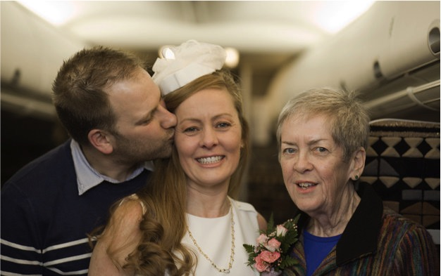godupdates airplane wedding grants wish of mom with cancer 1