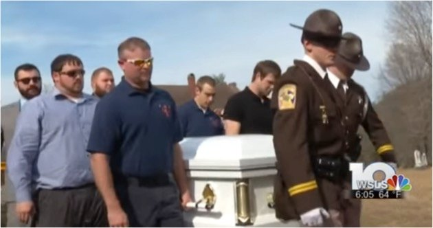 godupdates firetruck carries casket of firefighter with muscular distrophy 1