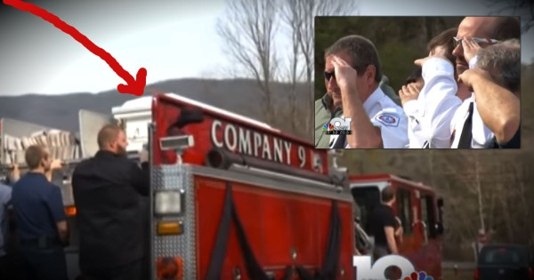 What's Atop This Fire Truck Is Honoring A Very Special Firefighter