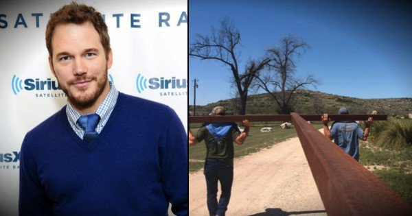 Hollywood Star Chris Pratt Erects Giant Cross To Celebrate Easter