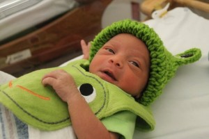godupdates hospital dresses leap day babies as frogs 2