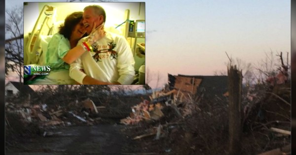 During A Powerful Tornado, A Couple Is Kept Safe By The Hand Of GOD!