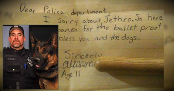 Little Girl Donates Her Allowance In Honor Of A Slain Hero Police Dog