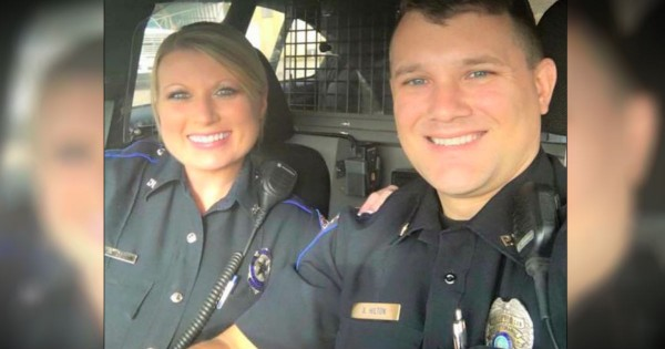 This Viral Photo Of 2 Married Police Officers Carries A Powerful Message