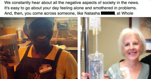 A Stranger's Kindness At The Grocery Completely Turned Her Day Around