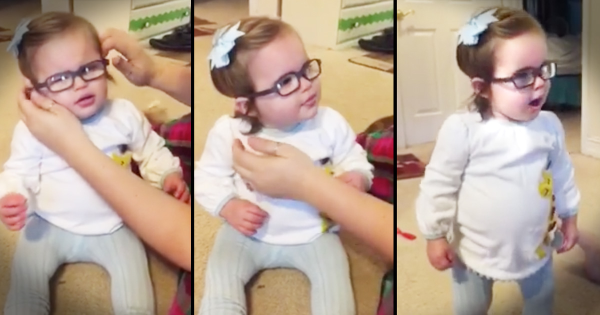 Little Girl Gets Glasses Sees Clearly for First Time 'Thank You'