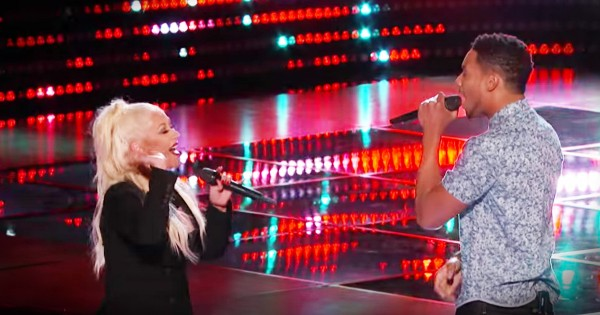 Contestant's Audition Turned Into A Surprise Duet With Christina Aguilera