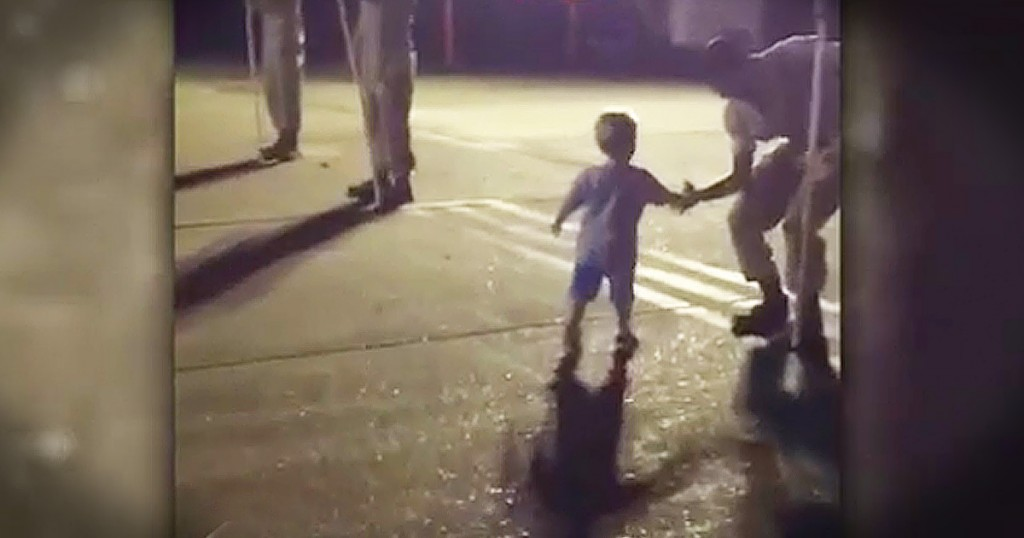2 year old sawyer shakes soldiers hands GodUpdates
