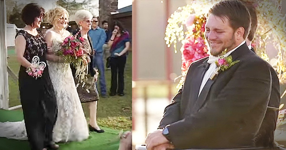 paralyzed groom stands up for bride walk down aisle GodUpdates