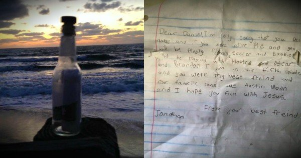 Man Finds A Boy's Touching Message In A Bottle And Responds
