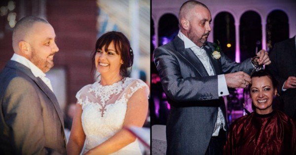 See Why This Bride Decided To Shave Her Head At Wedding Reception