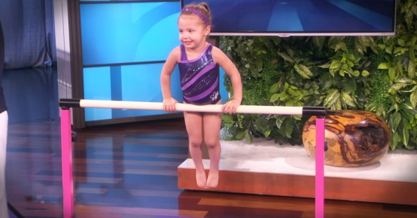 Gymnastics Prodigy, 3-Year-Old, Emma Wows on Ellen