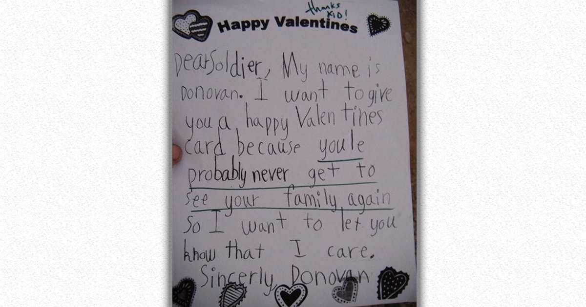 Soldiers Share 14 Of The Best Letters From Kids They\'ve Received