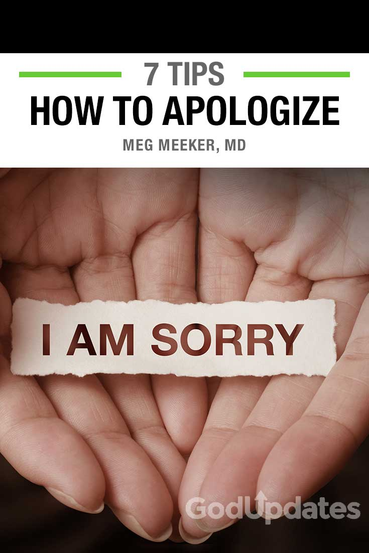 how to apologize - meg meeker, md