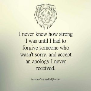 accept apology I never received