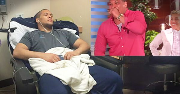 College Football Player Fighting Cancer Gets Big Surprise On Ellen