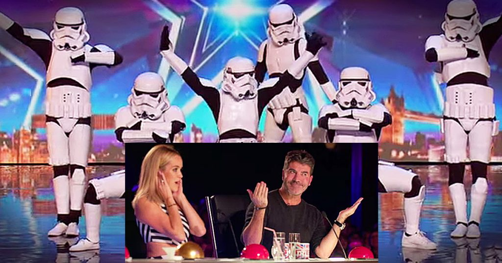 simon golden buzzer britains got talent boogie storm stormtrooper dance GodUpdates