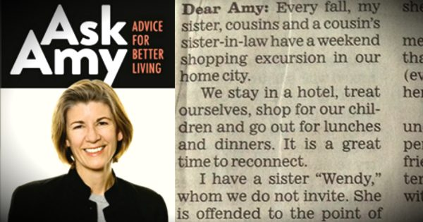 A Sister's Letter To 'Ask Amy' Prompts An Epic Response
