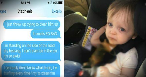 Dad Sends Hilarious Texts To His Wife After Their Son Vomits