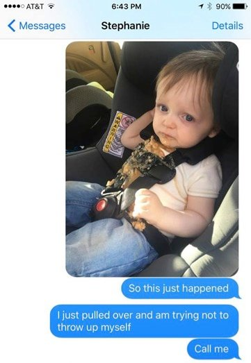 godupdates dad's funny texts after son puked