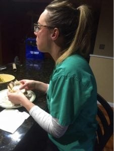 godupdates wife eating dinner photo husband honors stroke nurse 1