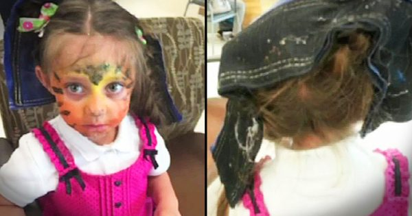 Little Girl Gets Hair Caught in Bounce House Warning
