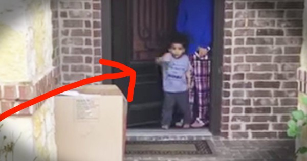 Little Boy Says Cute Goodbye to Grandma