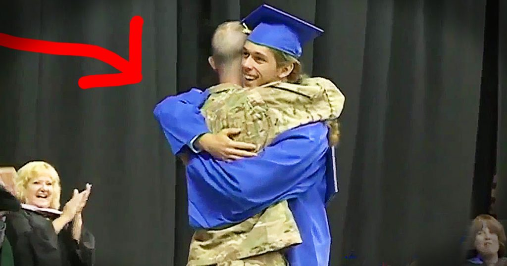 military dad surprises son at high school graduation GodUpdates