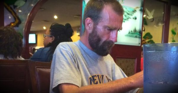 Angel Helps A Homeless Man After A Buffet Refuses Him Water