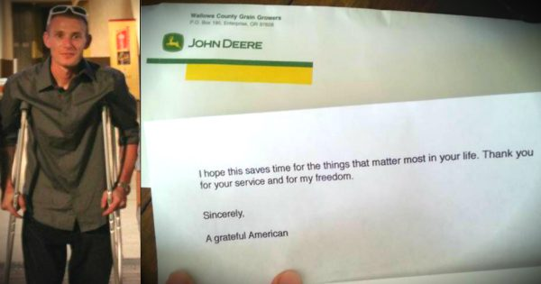 A Disabled Veteran Gets A Special Surprise From Anonymous Stranger