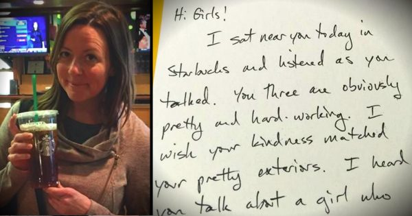 Mom Overhears 3 Girls Gossiping, Then Drops Them A Note On Kindness