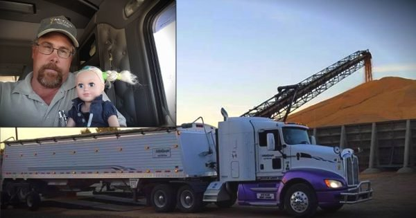 Truck Driver Dad Spends The Day 'Babysitting' For His Little Girl!