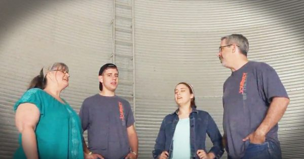 Christian Family Sings What a Friend We Have in Jesus in a Silo