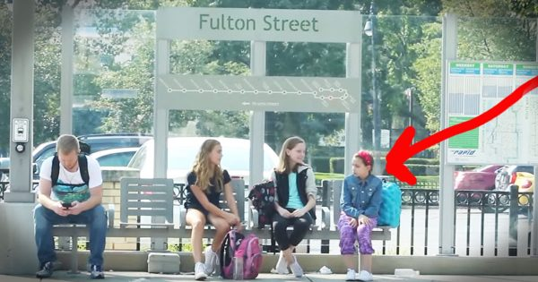 Total Strangers Step In To Stop Bullying At The Bus Stop