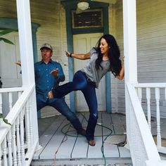 chip and joanna gaines marriage - karate kick 2