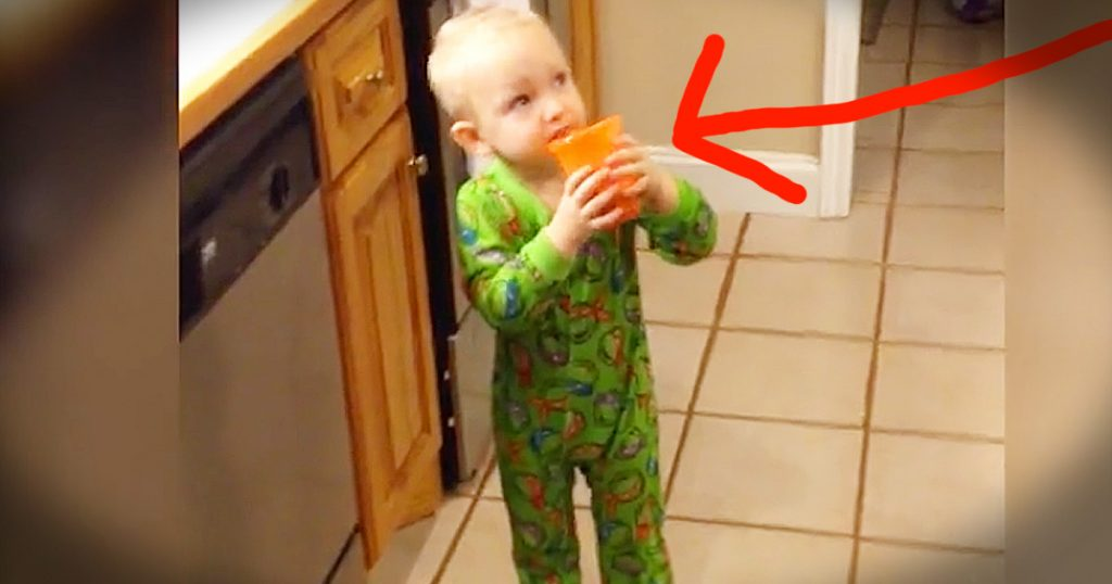 little boy drinks vegetable juice instead of chocolate milk GodUpdates