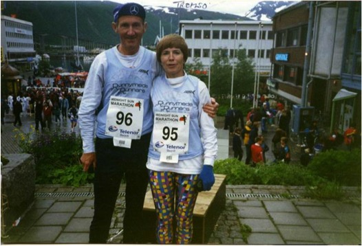 godupdates 80-year-old couple celebrates 57th wedding anniversary running marathon 3